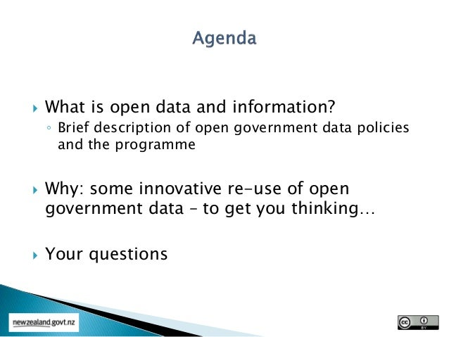 Open Data - Environment Southland Information Management Conference Oct 2015 Slide 2