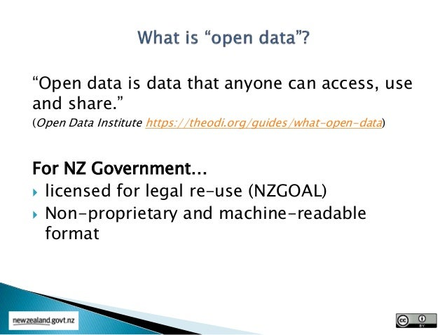 Open Data - Environment Southland Information Management Conference Oct 2015 Slide 3