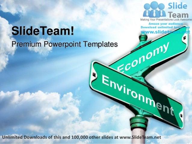 Environment vs economy metaphor power point templates themes and back premium powerpoint templates toneelgroepblik Images