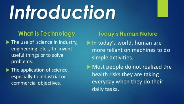 science vs technology