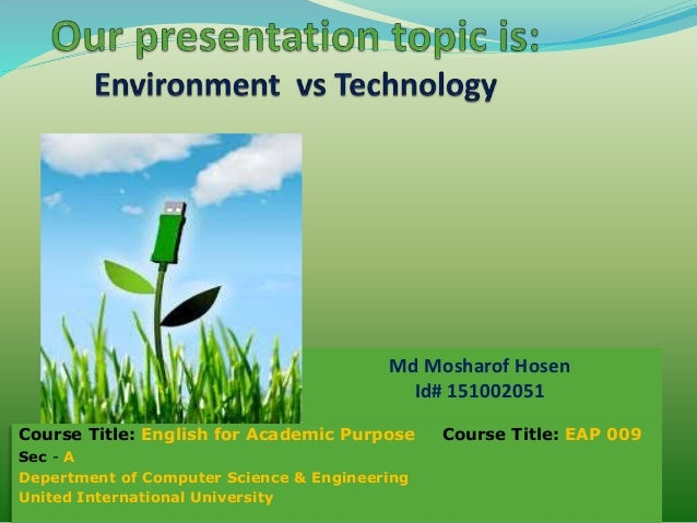 technology vs environment essay