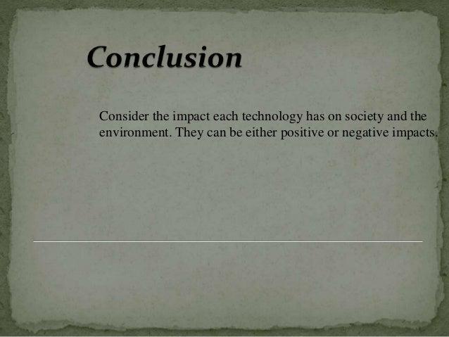 Environment Vs Technology