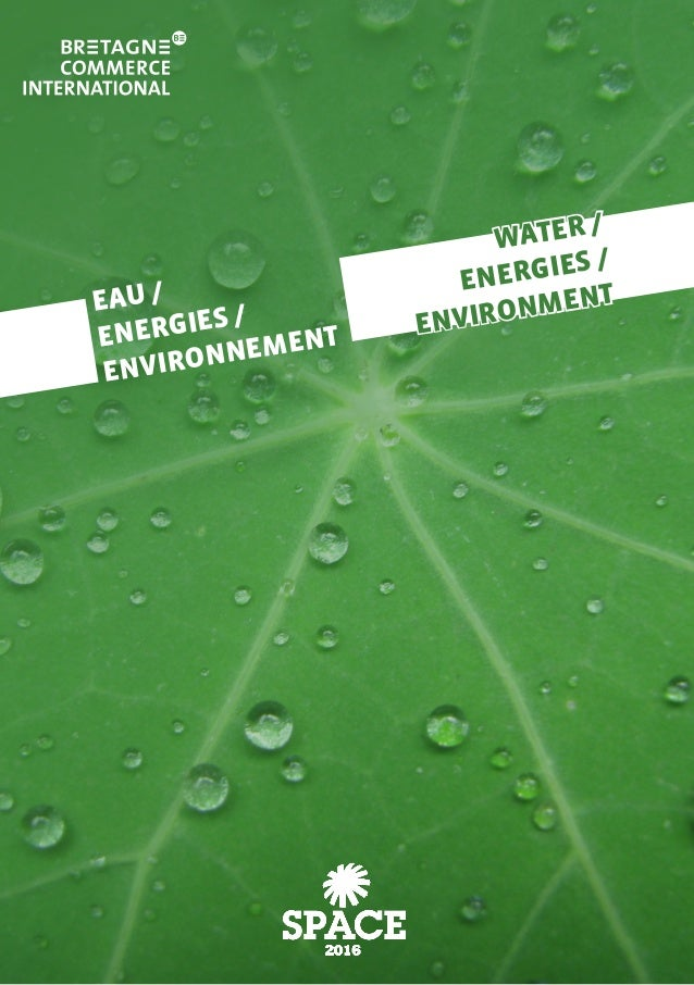 EAU / ENERGIES / ENVIRONNEMENT WATER / ENERGIES / ENVIRONMENT