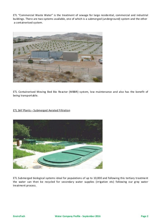 EnviroTech UAE Water Treatment, Grey Water Recycling Systems