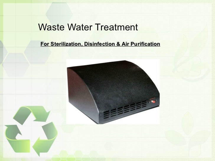 Waste Water Treatment Process Presentation