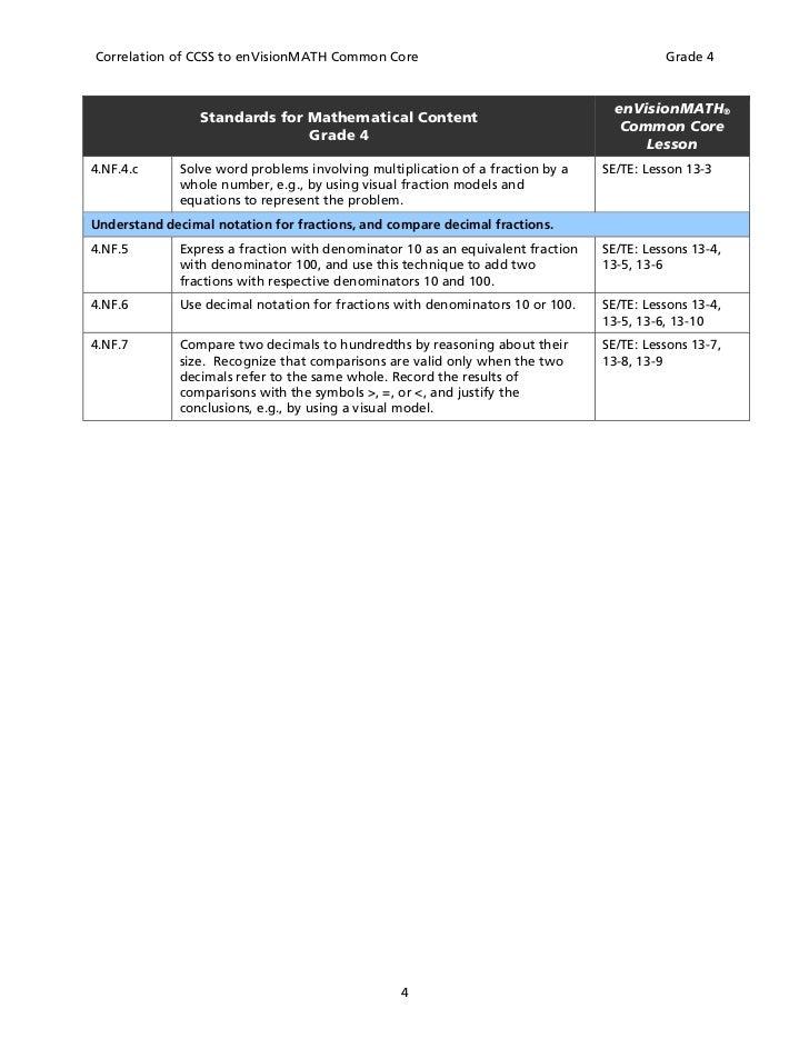 Envision math interactive homework workbook grade 5 answer key