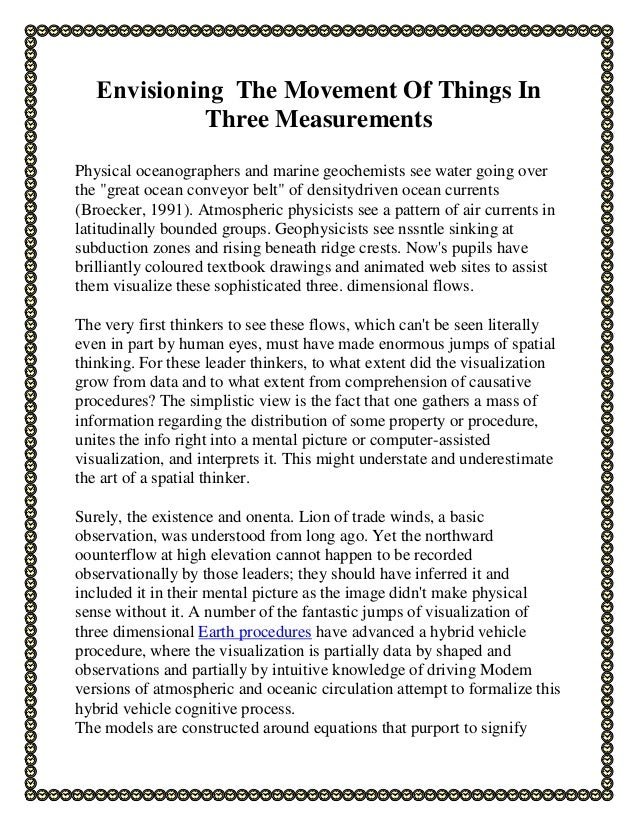 Envisioning The Movement Of Things In Three Measurements Physical oceanographers and marine geochemists see water going ov...
