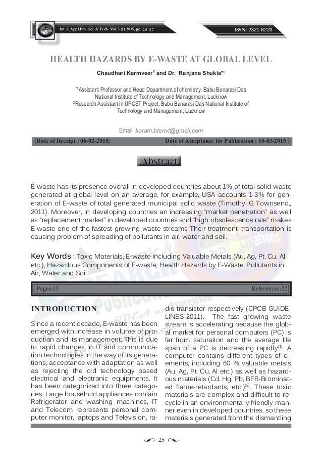 Elixir International Journal
