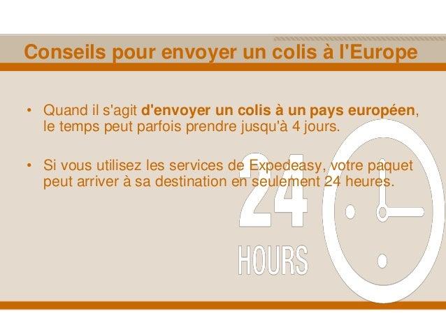 Envoi de colis en europe for Envoyer un colis encombrant