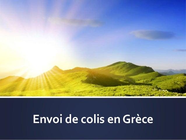 Envoi de colis en Grèce