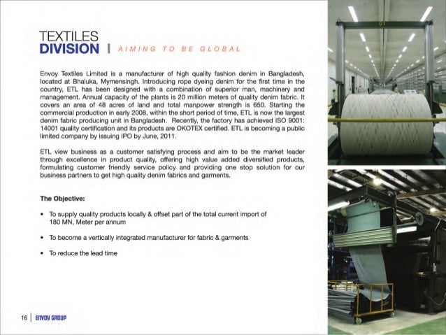 prospectus envoy textiles limited Read the prospectus and risk factors carefully, assess their own financial  lankabangla investments limited  envoy textiles.