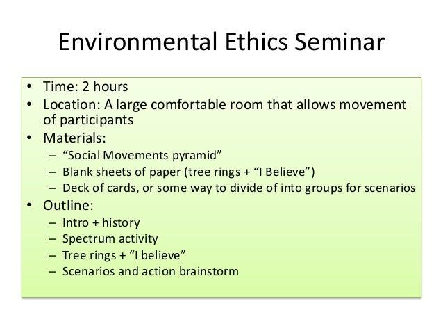 environmental ethics lesson plan environmental ethics