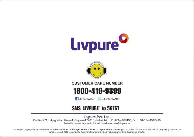 Livpure Envy Plus Ro Water Purifier