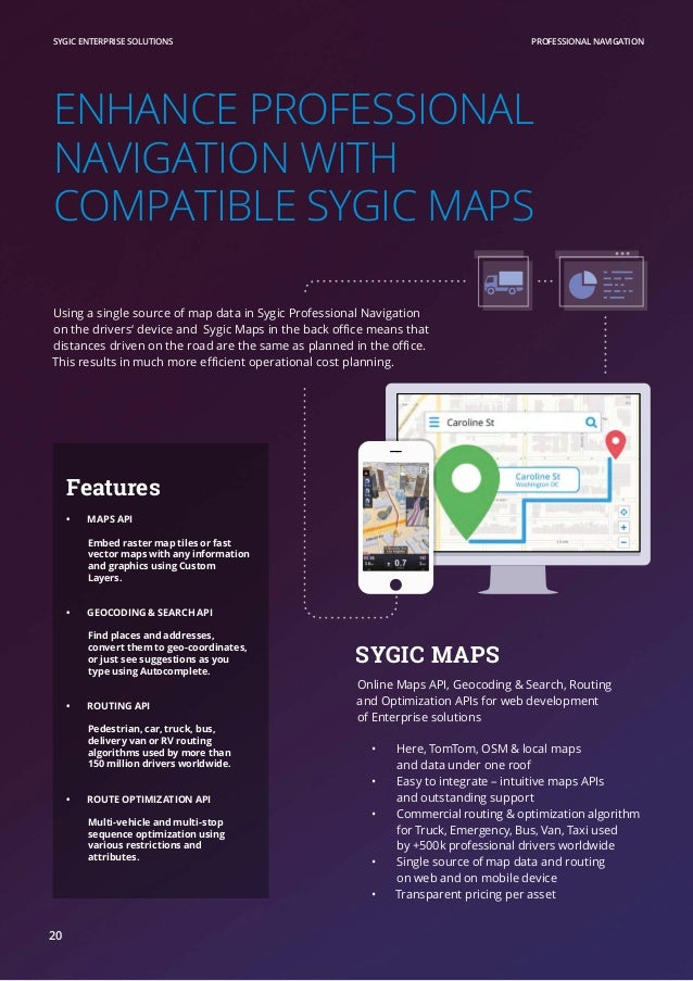 Sygic Professional Navigation with SDK
