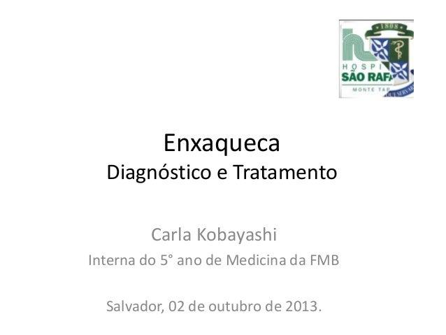 Enxaqueca Diagnóstico e Tratamento Carla Kobayashi Interna do 5° ano de Medicina da FMB Salvador, 02 de outubro de 2013.