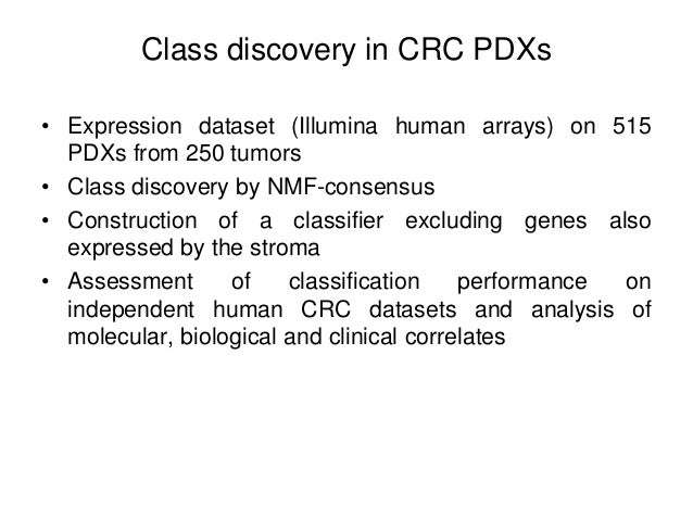 Integrating cell lines and PDXs to test new actionable pathways in CRC