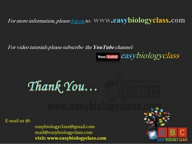 """Formore iiifbnnation,  please log on to:  WW"""" VV . easybiologyclass.  C O In  For Video tutorials please subscribe the You..."""