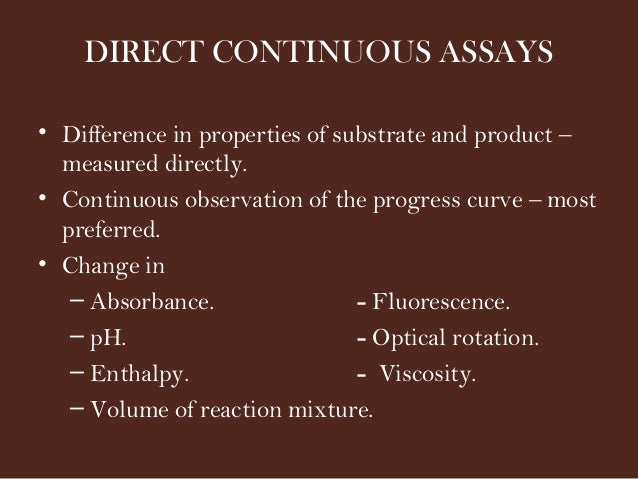 enzyme assays and kinetics Enzyme assay background & mdh protocol enzyme assays: just a few simple notes and helpful hints to guide your way along the fun world of enzyme kinetics.