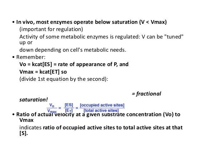 vmax kcat relationship help
