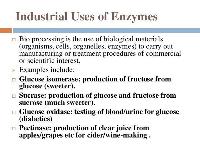 Enzyme production by biotechnology