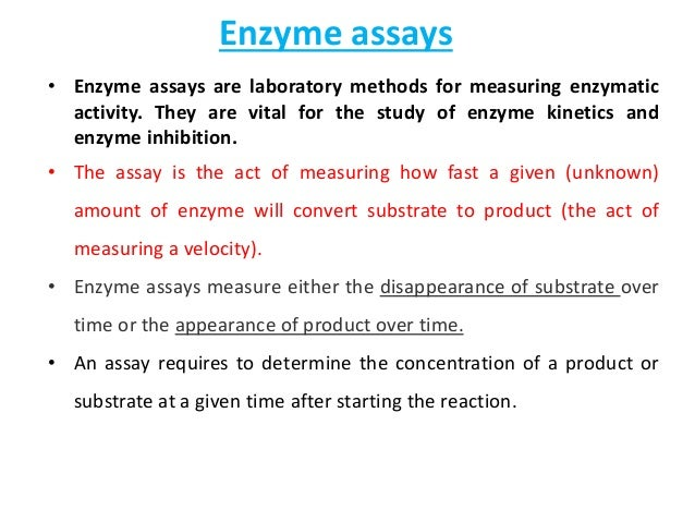 enzyme assays ppt Enzyme active site substrate induced fit what affects enzyme activity three factors: 1 environmental conditions 2 cofactors and coenzymes 3 enzyme.