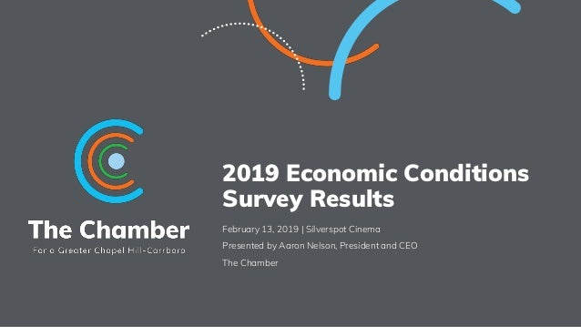 2019 Economic Conditions Survey Results February 13, 2019 | Silverspot Cinema Presented by Aaron Nelson, President and CEO...