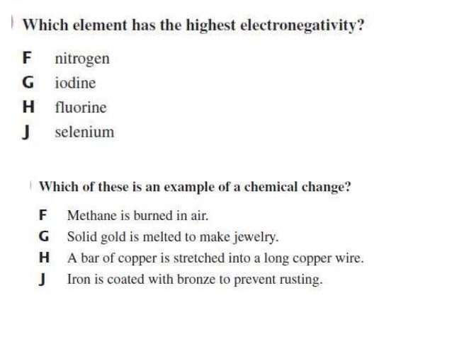 Electronegativity Of Iron ~ Eoc practice nd weeks chem