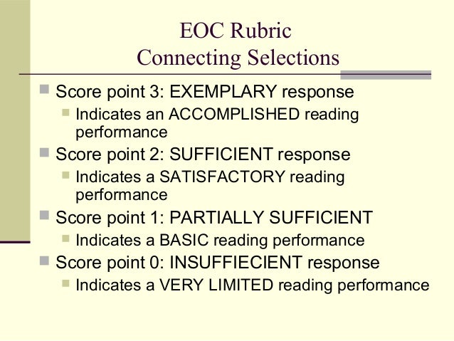 rubric for short answer essays