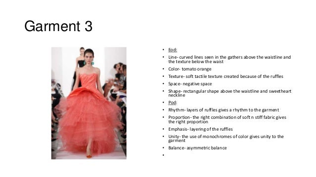 Elements n principles of design for Couture clothing definition