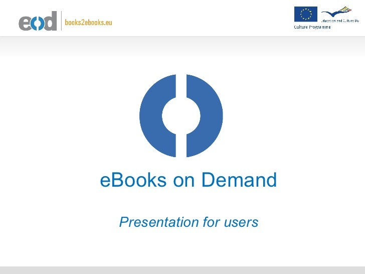 eBooks on Demand Presentation for users