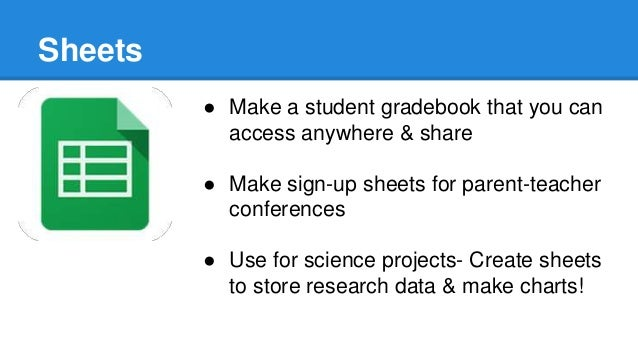 Google apps for the classroom