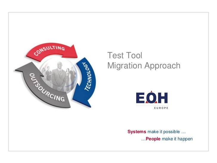 Test ToolMigration Approach     Systems make it possible …           …People make it happen