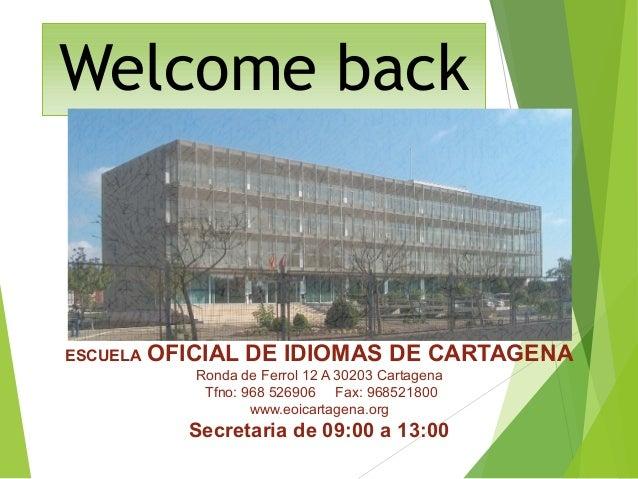 Eoi cartagena 2016 17 - Escuela oficial de idiomas inca ...