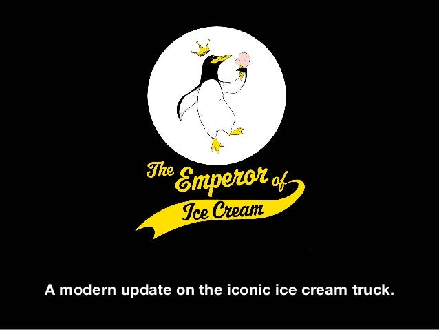 A modern update on the iconic ice cream truck.