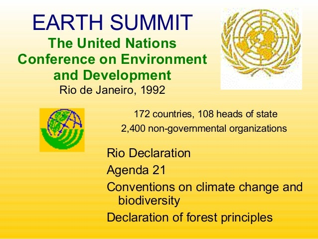 regulation report rio earth summit climate change It mustn't be done in a way that worsens climate change or pushes ocean regulation after the rio summit rio earth summit.