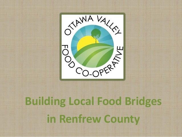 Building Local Food Bridges in Renfrew County
