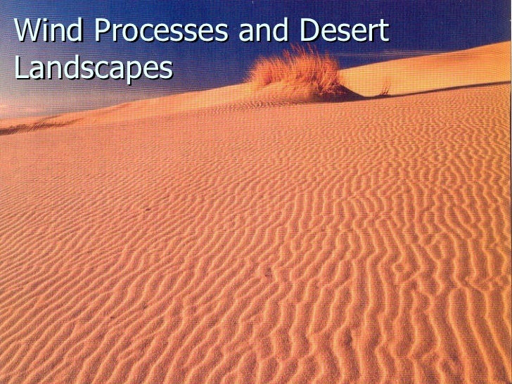 Wind Processes and Desert Landscapes