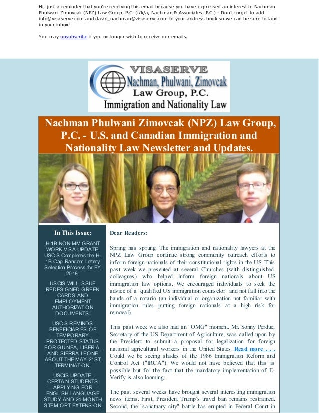 u s  immigration law news and updates  h