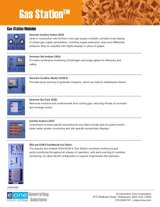 E/One Gas Station Integrates Multiple Generator Equipment Monitoring …