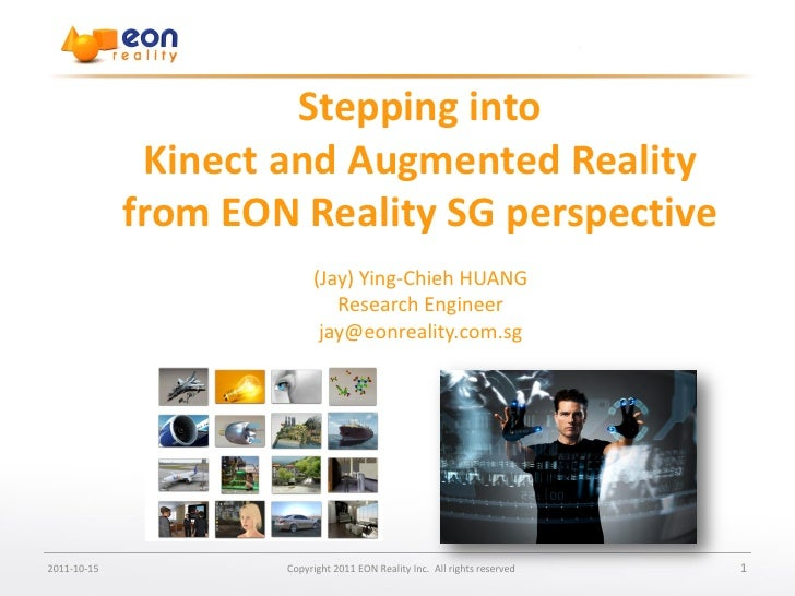Enter document name                      Stepping into              Kinect and Augmented Reality             from EON Real...