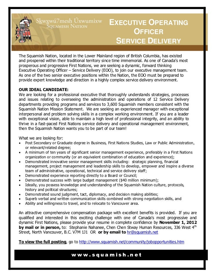 EXECUTIVE OPERATING                                                         OFFICER                                       ...