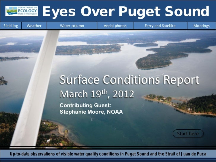 Eyes Over Puget SoundField log   Weather          Water column            Aerial photos         Ferry and Satellite       ...