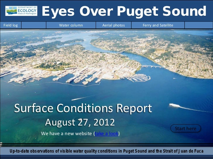 Eyes Over Puget SoundField log                    Water column            Aerial photos         Ferry and Satellite      S...