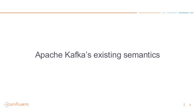 3 Apache Kafka's existing semantics