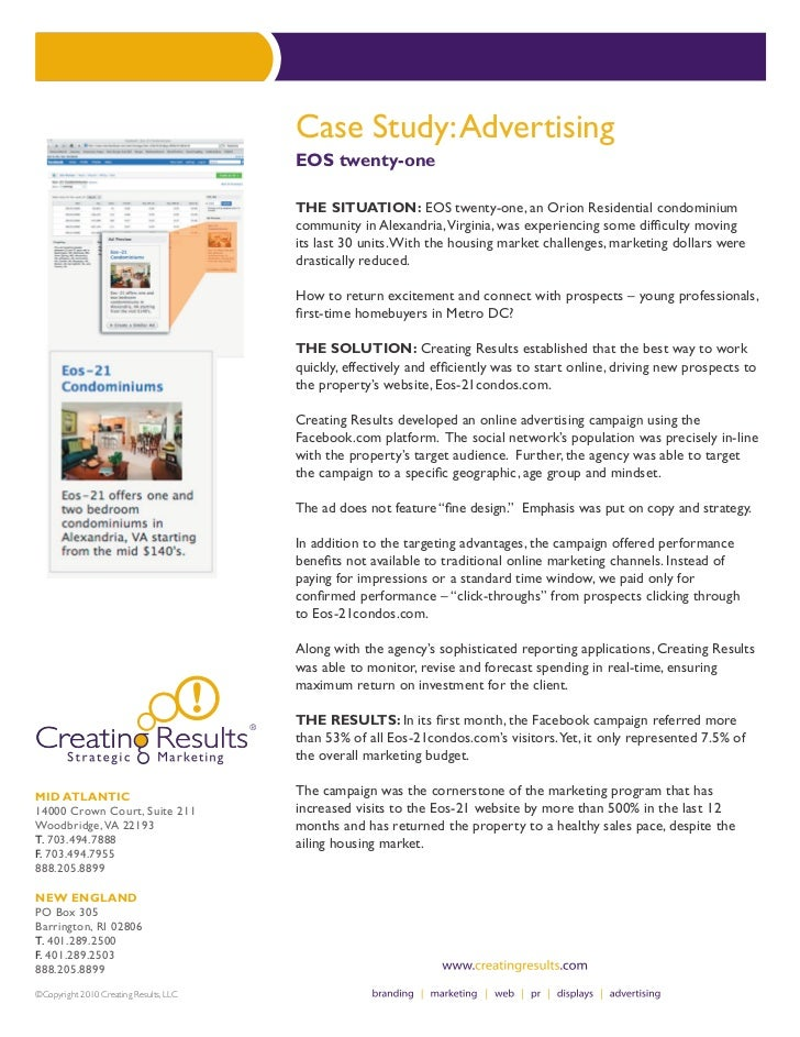 Case Study: Advertising                                        EOS twenty-one                                        THE S...