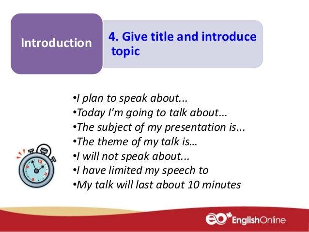 Make a presentation about