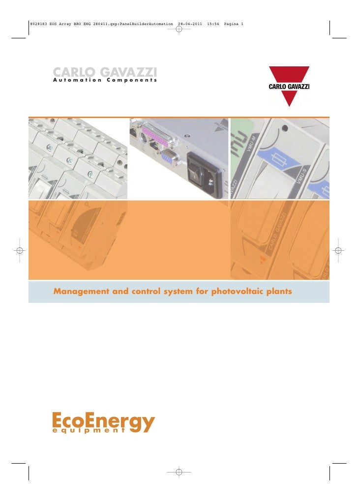 CARLO GAVAZZIAutomation   ComponentsManagement and control system for photovoltaic plants