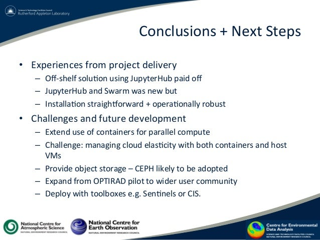 Conclusions  +  Next  Steps   • Experiences  from  project  delivery   – Off-‐shelf  solu?on  using...