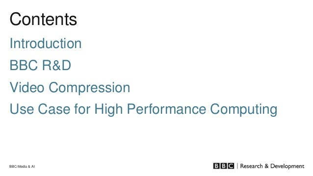 BBC Research & Development use case for EOSC-DIH Slide 2