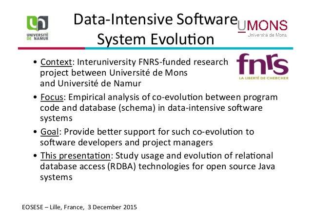 Evolution of database access technologies in Java-based software proj…